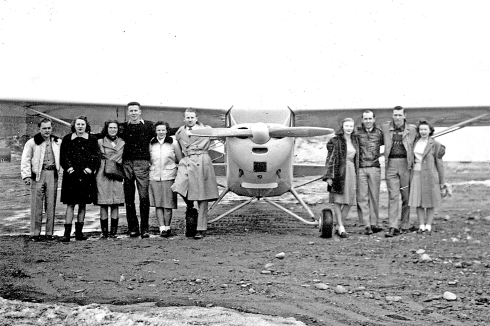Aviation Club Members, circa 1947