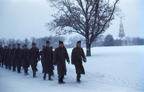 Marching soilders, 1944