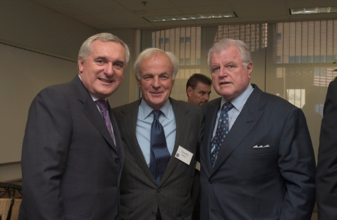 Taoiseach Bertie Ahern, Timothy Hanan, Senator Ted Kennedy