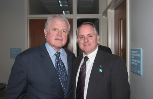 Senator Ted Kennedy, UConn Chief of Police Robert Hudd