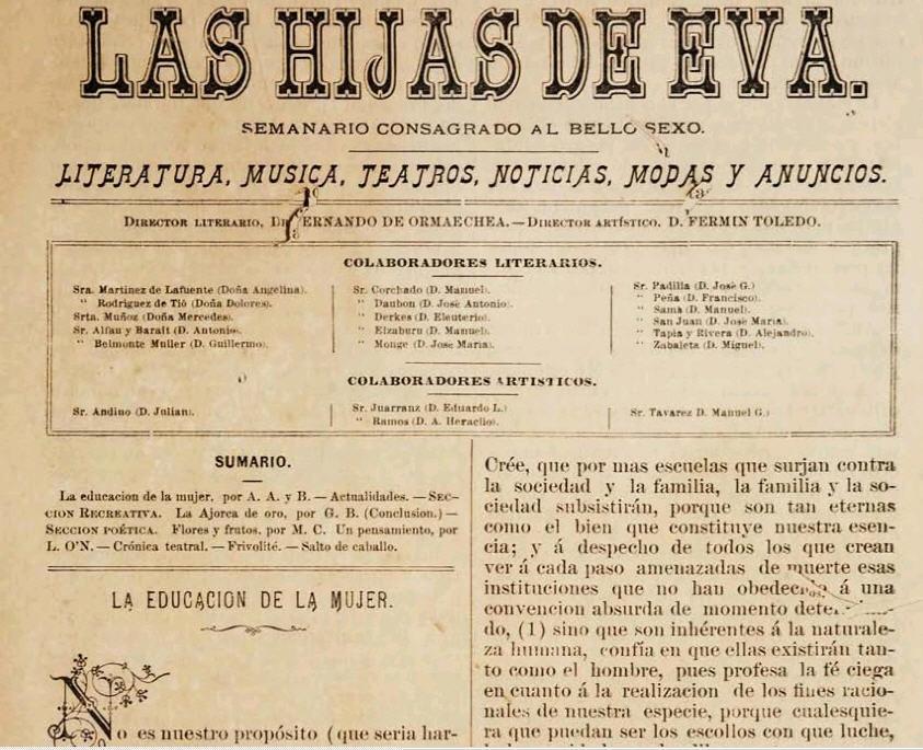 Las Hijas de Eva, Puerto Rican women magazine