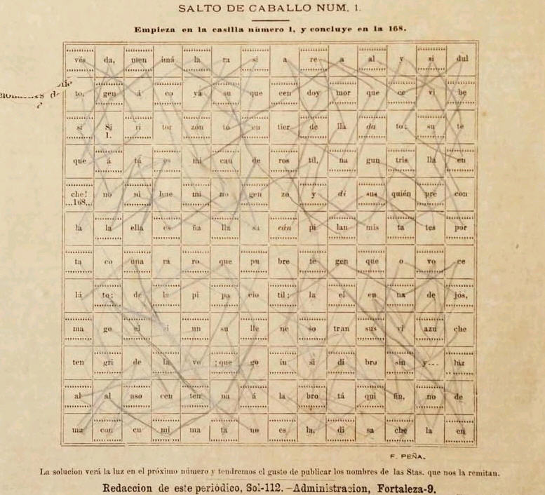 Salto de Caballo--crossword game