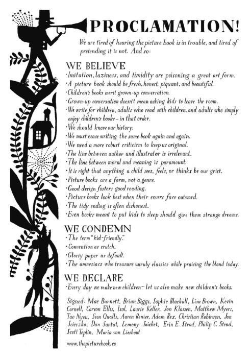 Picture Book Manifesto
