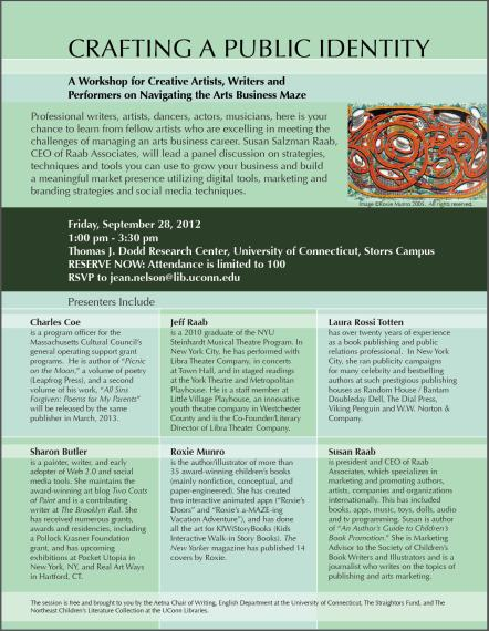 """Crafting a Public Identity"" Workshop 9/28/2012 Dodd Research Center, Storrs, CT"